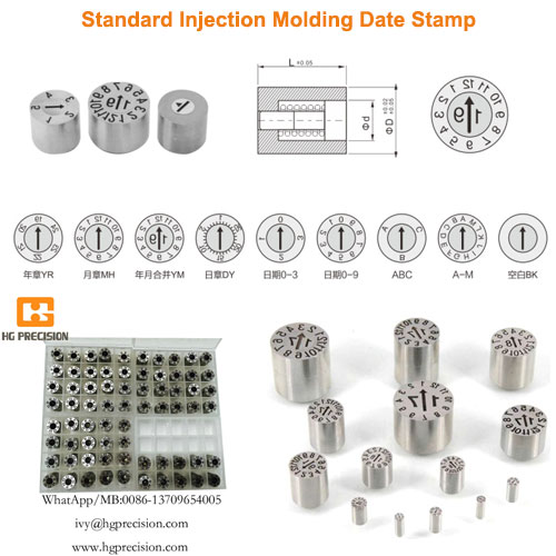 Standard Injection Molding Date Stamp - HG