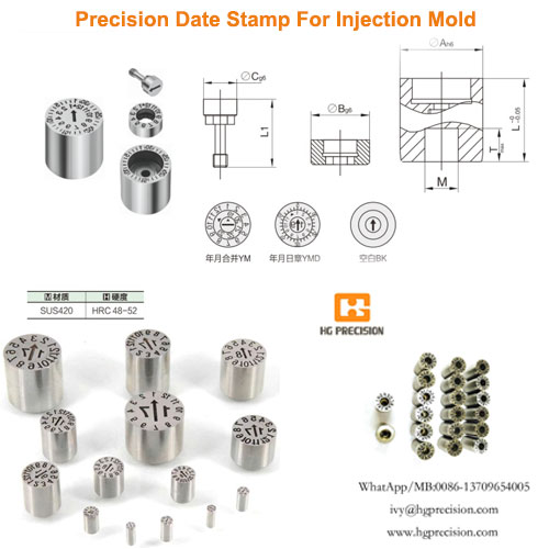 Precision Date Stamp For Injection Mold - HG